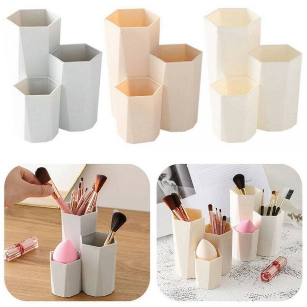 3lattices Cosmetic Make Up Brush Desktop Storage Box Table Organizer Pen Holder (2)