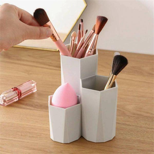 3lattices Cosmetic Make Up Brush Desktop Storage Box Table Organizer Pen Holder (4)
