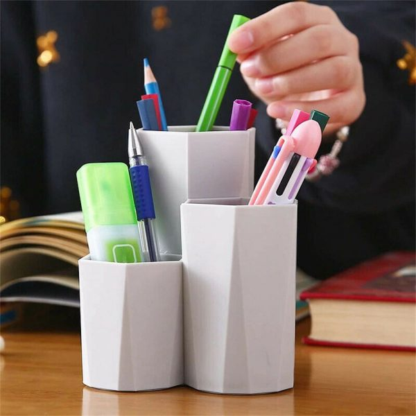 3lattices Cosmetic Make Up Brush Desktop Storage Box Table Organizer Pen Holder (5)
