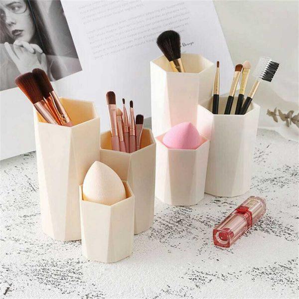 3lattices Cosmetic Make Up Brush Desktop Storage Box Table Organizer Pen Holder (6)