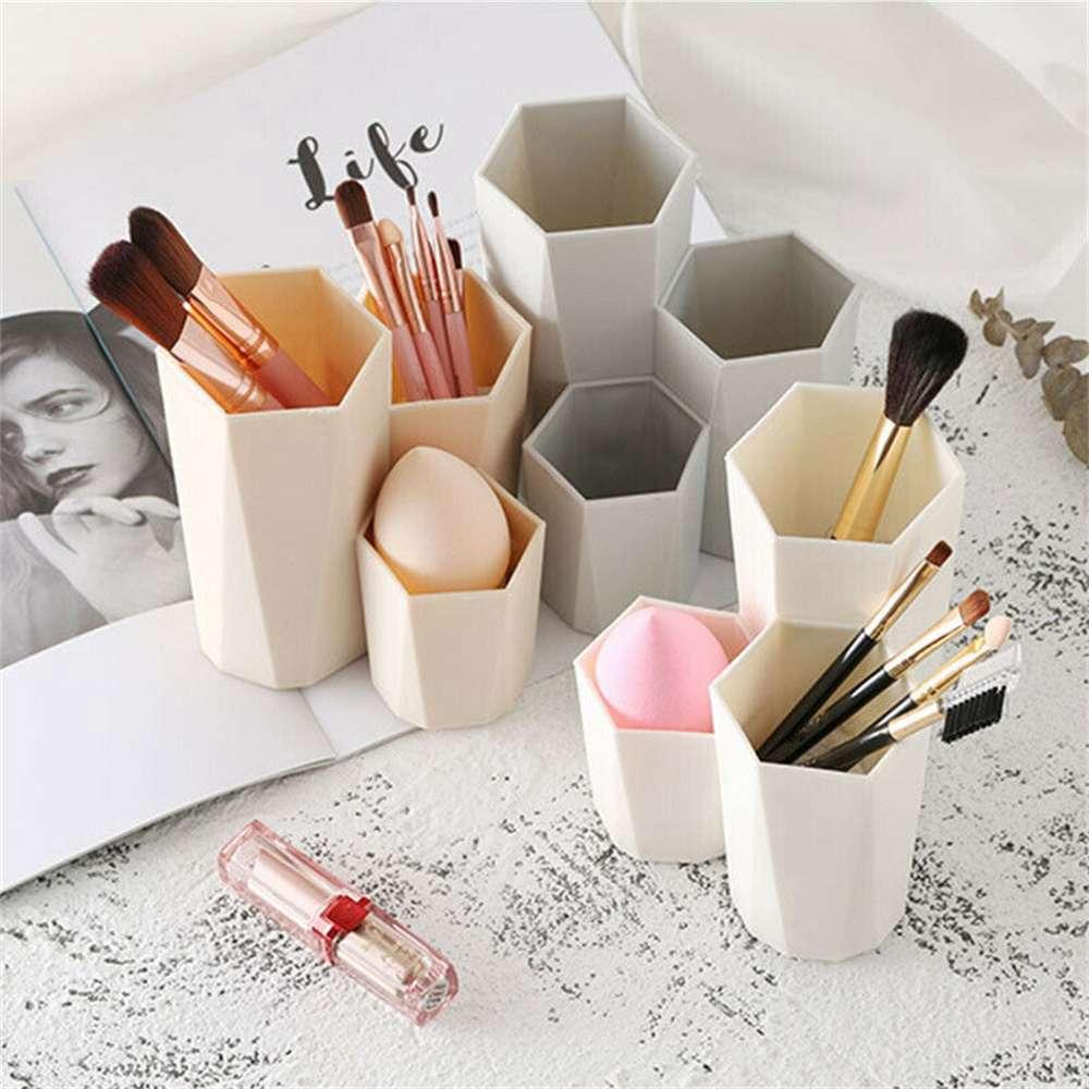 3lattices Cosmetic Make Up Brush Desktop Storage Box Table Organizer Pen Holder (7)