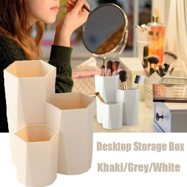3lattices Cosmetic Make Up Brush Desktop Storage Box Table Organizer Pen Holder (9)