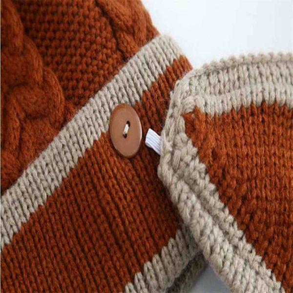 3pcs Women Beanie Hat Pom Bobble Scarf Mask Set Knitted Winter Warm Snow Ski Cap (9)
