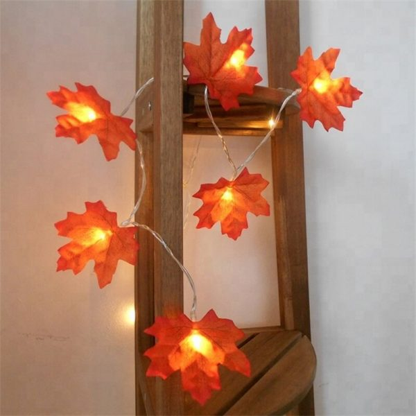 4 Meter Maple Leaf Light Usb Battery Window Curtain Flower Maple Leaf Festoon Decorative String Lights (1)
