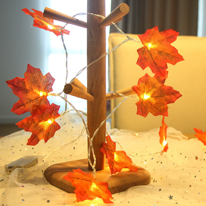 4 Meter Maple Leaf Light Usb Battery Window Curtain Flower Maple Leaf Festoon Decorative String Lights (5)