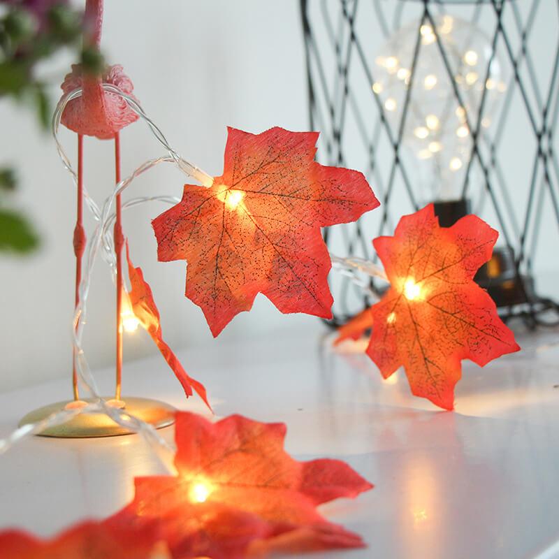 4 Meter Maple Leaf Light Usb Battery Window Curtain Flower Maple Leaf Festoon Decorative String Lights (6)