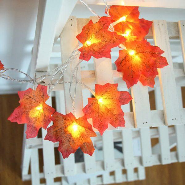 4 Meter Maple Leaf Light Usb Battery Window Curtain Flower Maple Leaf Festoon Decorative String Lights (8)