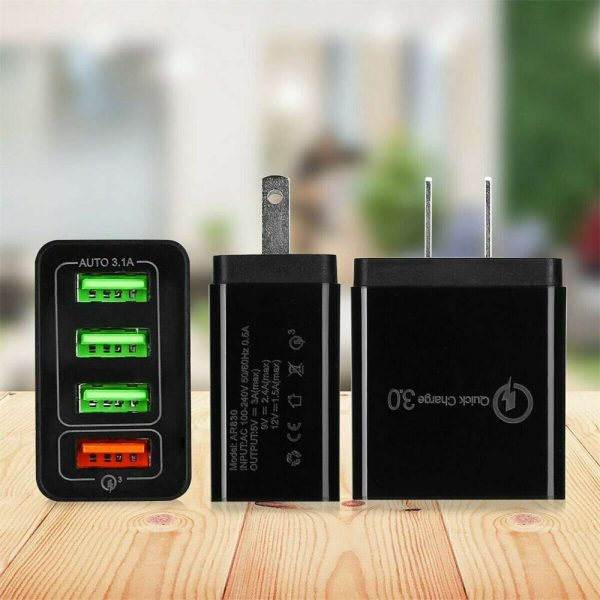 4 Port Fast Quick Charge Qc 3.0 Usb Hub Wall Charger Power Adapter Us Plug (14)