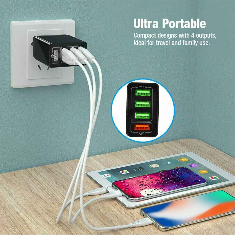 4 Port Fast Quick Charge Qc 3.0 Usb Hub Wall Charger Power Adapter Us Plug (15)