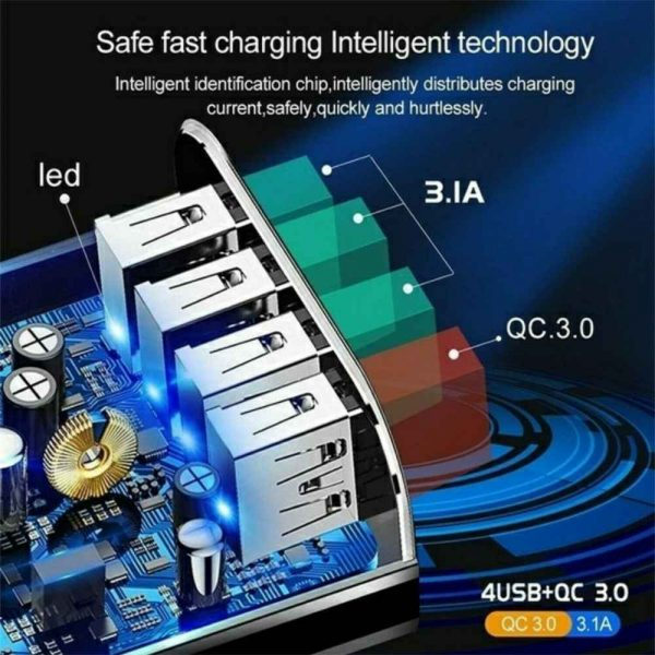 4 Port Fast Quick Charge Qc 3.0 Usb Hub Wall Charger Power Adapter Us Plug (16)