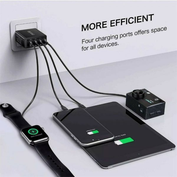 4 Port Fast Quick Charge Qc 3.0 Usb Hub Wall Charger Power Adapter Us Plug (8)