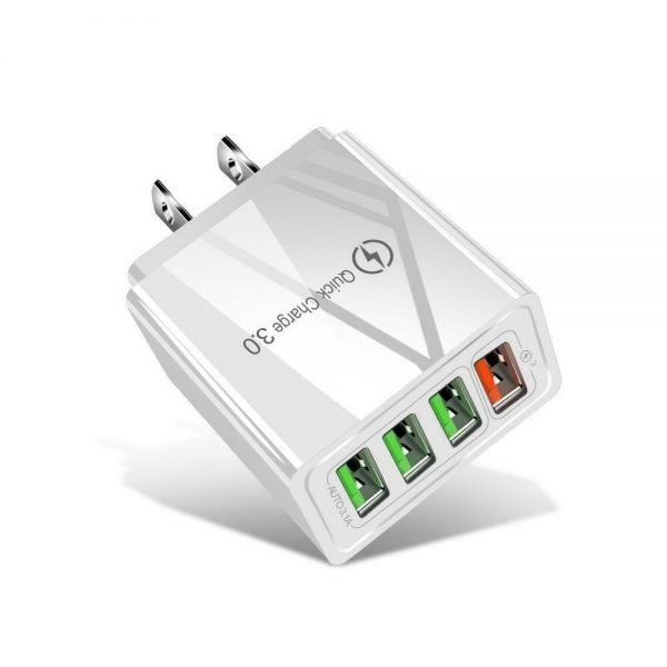 4 Port Fast Quick Charge Qc 3.0 Usb Hub Wall Charger Power Adapter Us Plug (9)