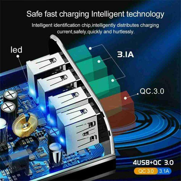 4 Usb Port Fast Quick Charge Qc 3.0 Usb Hub Wall Charger Adapter Uk Plug (10)