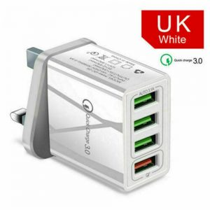 4 Usb Port Fast Quick Charge Qc 3.0 Usb Hub Wall Charger Adapter Uk Plug (14)