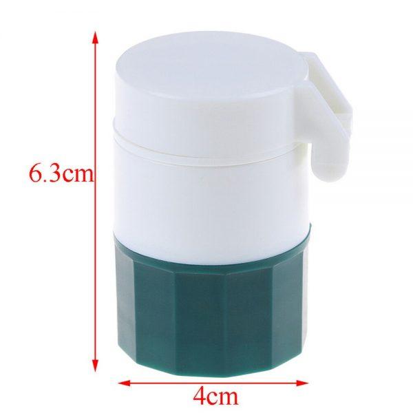 4 In 1 Pill Medicine Crusher Grinder Splitter Tablet Divider Cutter Storage B (3)