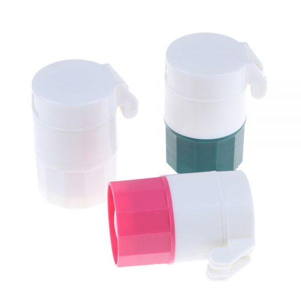 4 In 1 Pill Medicine Crusher Grinder Splitter Tablet Divider Cutter Storage B (4)