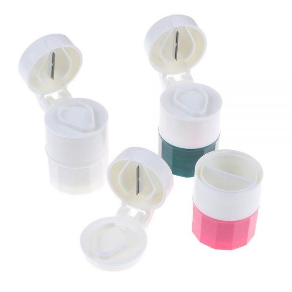 4 In 1 Pill Medicine Crusher Grinder Splitter Tablet Divider Cutter Storage B (6)