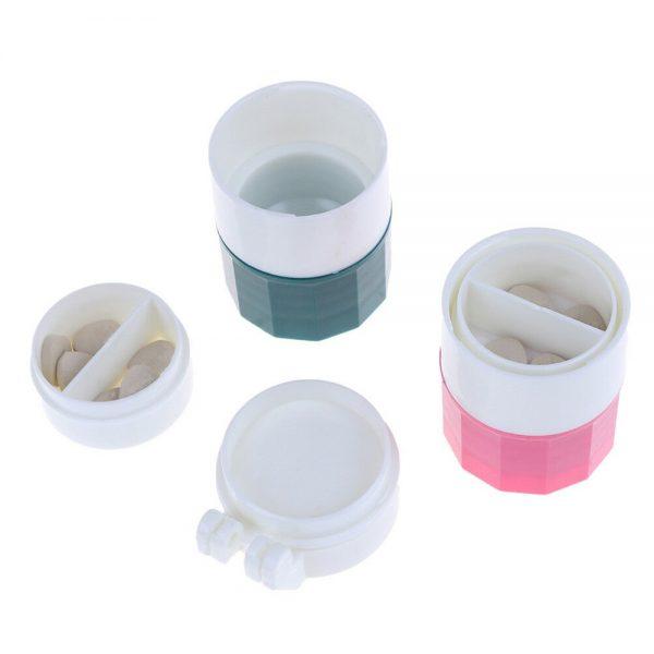 4 In 1 Pill Medicine Crusher Grinder Splitter Tablet Divider Cutter Storage B (7)
