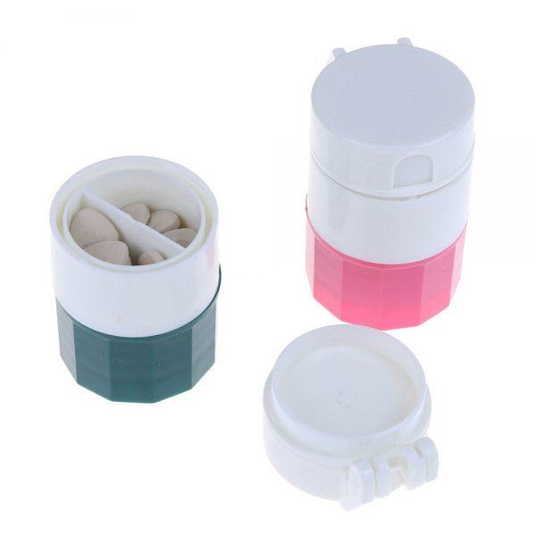 4 In 1 Pill Medicine Crusher Grinder Splitter Tablet Divider Cutter Storage B (8)