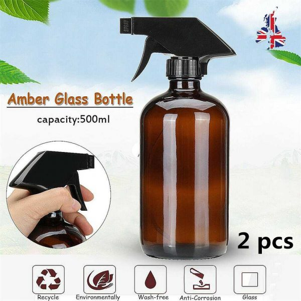 500ml Boston Glass Mist Spray Bottle Dropper Pipette Atomiser Cap Wholesal Oil 副本