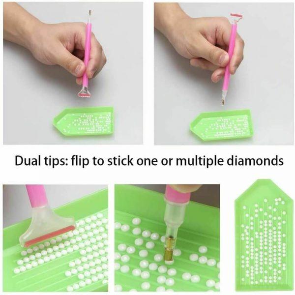 54pcs Diy Diamond Painting Tools Diamond Embroidery Tray Box Set (6)