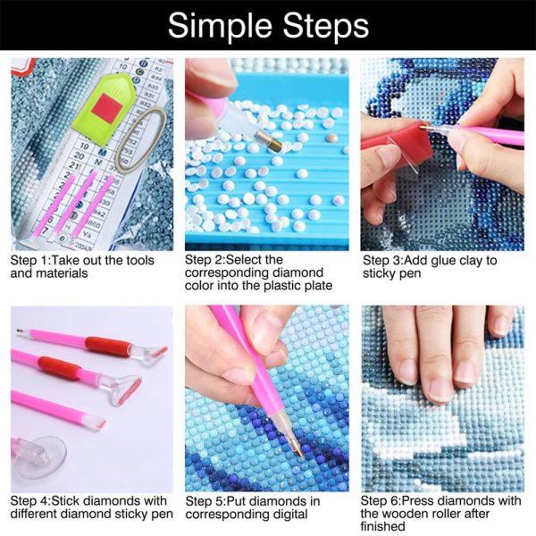54pcs Diy Diamond Painting Tools Diamond Embroidery Tray Box Set (9)