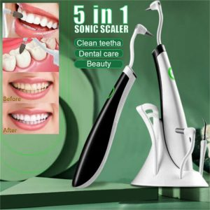 5in1 Electric Sonic Dental Scaler Tartar Calculus Plaque Remover Teeth Cleaner (1)