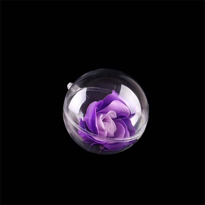 6cm Ps Plastic Transparent Ball Transparent Decorating Christmas Small Plastic Balls (1)
