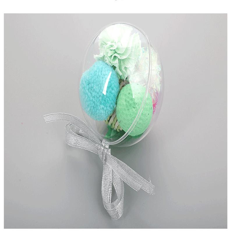 6cm Ps Plastic Transparent Ball Transparent Decorating Christmas Small Plastic Balls (2)