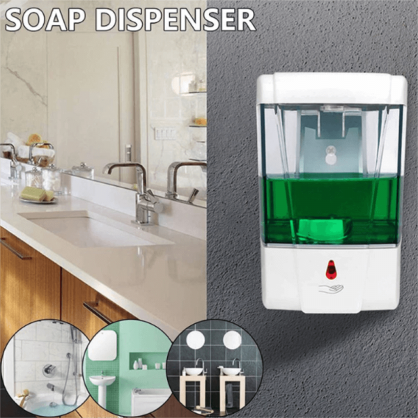 700ml Automatic Hand Sanitizer Dispense Household Touch Free Touchless Wall Mounted (4)