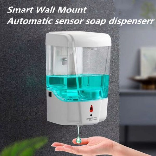 700ml Automatic Hand Sanitizer Dispense Household Touch Free Touchless Wall Mounted (6)