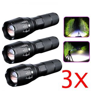 8000lm T6 Led Flashlight Tactical Zoomable Torch Lamp Light Waterproof Lantern (9)