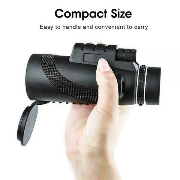 80x100 Hd Monocular Telescope Phone Camera Zoom Starscope Hiking Tripod Tools (12)