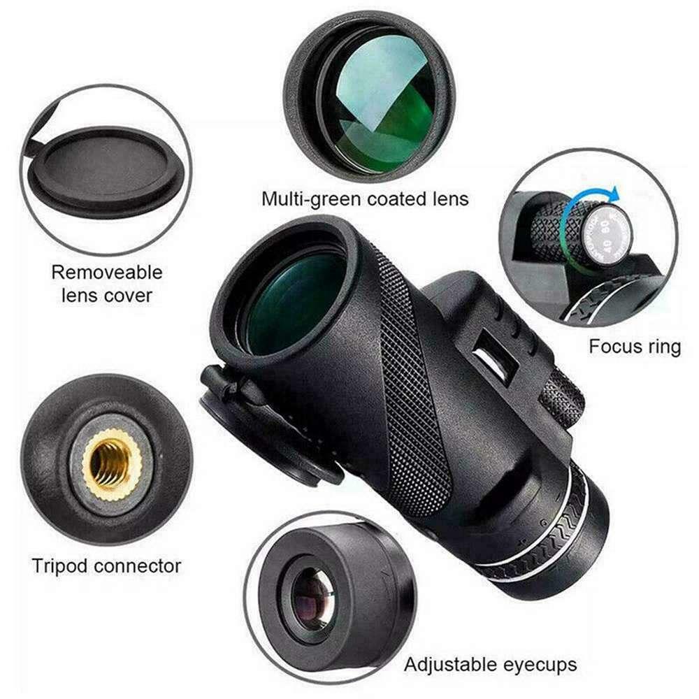 80x100 Hd Monocular Telescope Phone Camera Zoom Starscope Hiking Tripod Tools (13)