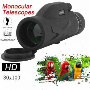 80x100 Hd Monocular Telescope Phone Camera Zoom Starscope Hiking Tripod Tools (15)