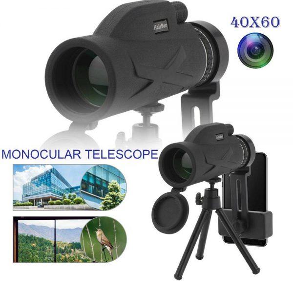 80x100 Hd Monocular Telescope Phone Camera Zoom Starscope Hiking Tripod Tools (2)