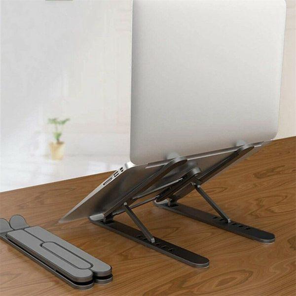 Adjustable Foldable Laptop Stand Fr Desk Portable Notebook Riser Computer Holder (10)