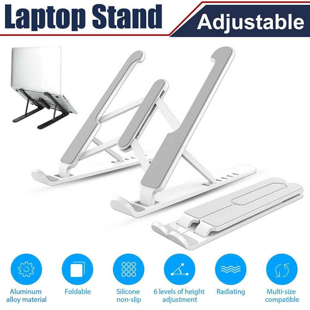 Adjustable Foldable Laptop Stand Fr Desk Portable Notebook Riser Computer Holder (12)