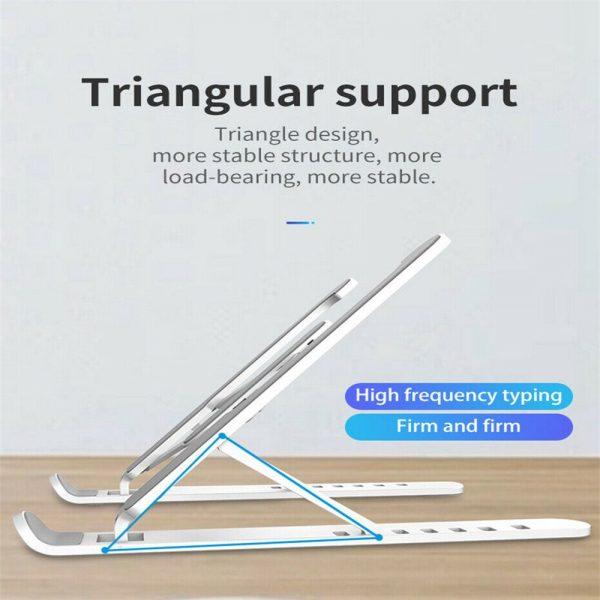 Adjustable Foldable Laptop Stand Fr Desk Portable Notebook Riser Computer Holder (13)