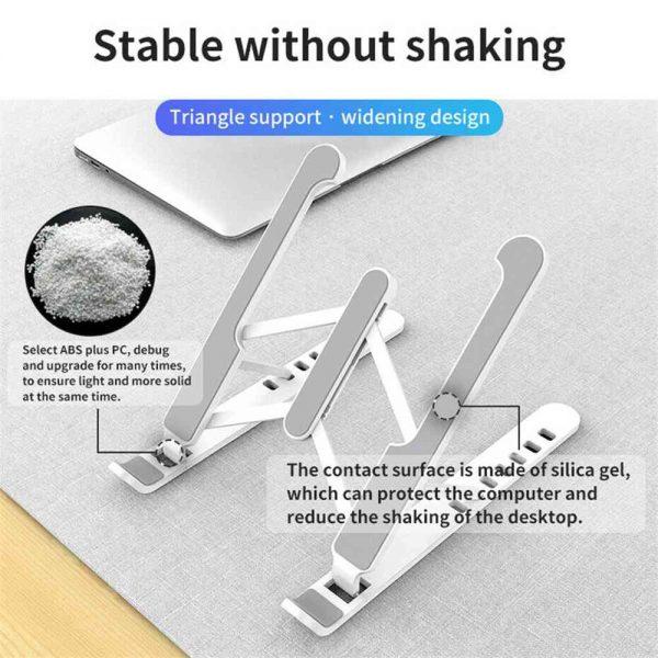 Adjustable Foldable Laptop Stand Fr Desk Portable Notebook Riser Computer Holder (14)