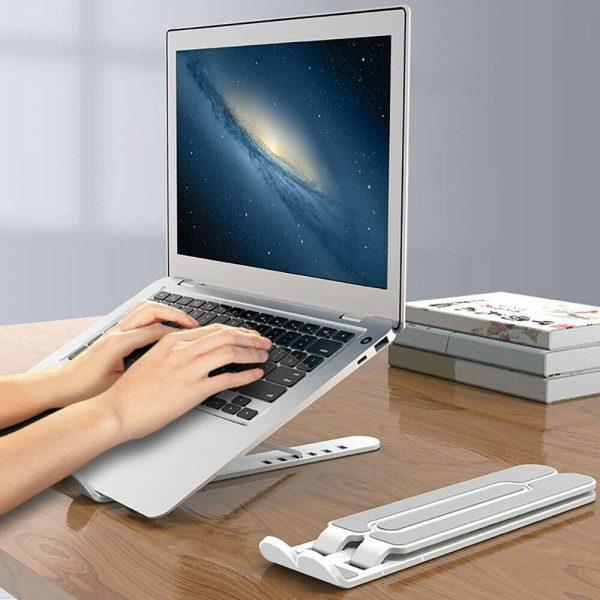 Adjustable Foldable Laptop Stand Fr Desk Portable Notebook Riser Computer Holder (18)