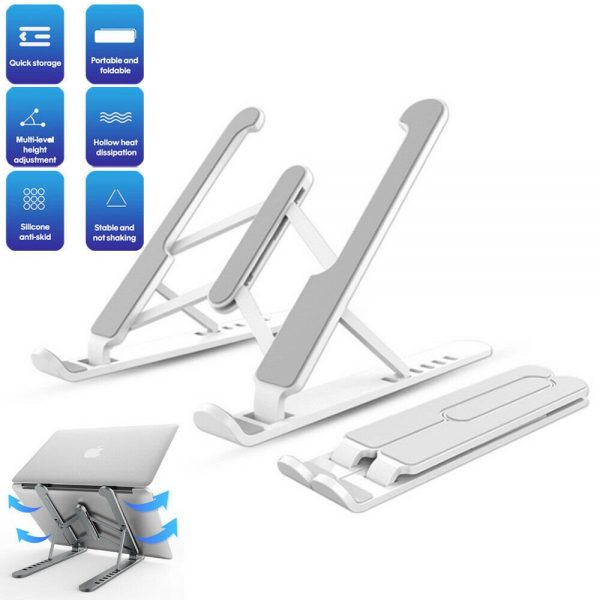 Adjustable Foldable Laptop Stand Fr Desk Portable Notebook Riser Computer Holder (2)