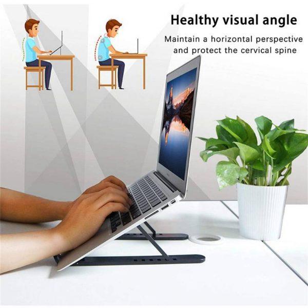 Adjustable Foldable Laptop Stand Fr Desk Portable Notebook Riser Computer Holder (5)