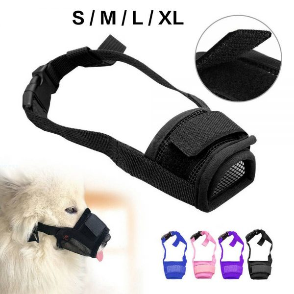 Adjustable Pet Dog Mask Small&large Mouth Muzzle Grooming Anti Stop Bark Bite (1)