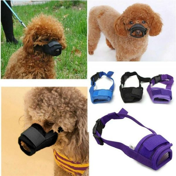 Adjustable Pet Dog Mask Small&large Mouth Muzzle Grooming Anti Stop Bark Bite (12)
