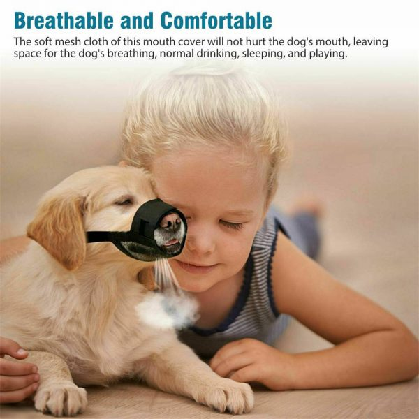 Adjustable Pet Dog Mask Small&large Mouth Muzzle Grooming Anti Stop Bark Bite (16)