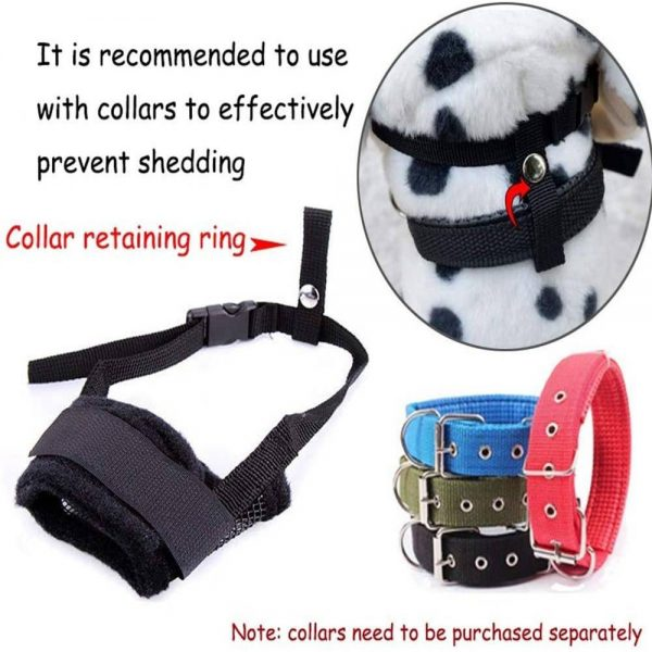 Adjustable Pet Dog Mask Small&large Mouth Muzzle Grooming Anti Stop Bark Bite (2)