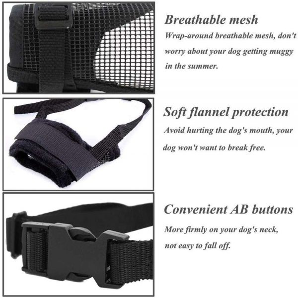 Adjustable Pet Dog Mask Small&large Mouth Muzzle Grooming Anti Stop Bark Bite (6)