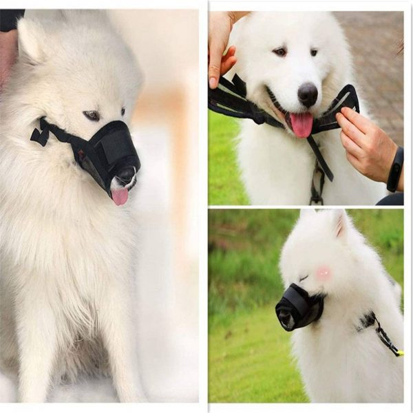 Adjustable Pet Dog Mask Small&large Mouth Muzzle Grooming Anti Stop Bark Bite (7)