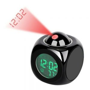 Alarm Clock Led Wallceiling Projection Lcd Digital Voice Talking Temperature (12)